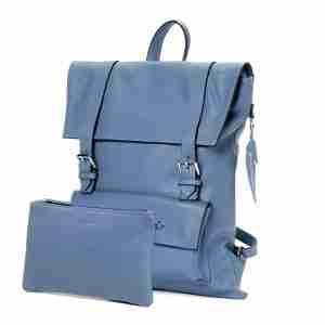 colibrì bag squadrato cotton blue