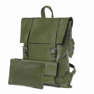 colibrì bag squadrato military green